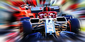 Räikkönen #7 en Vettel #5... van Jean-Louis Glineur alias DeVerviers
