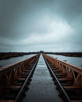Eisenbahnbrücke Moerputten von Marcel Kool