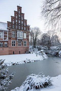 Schloß in Hamburg Bergedorf im Winter von Marc Heiligenstein
