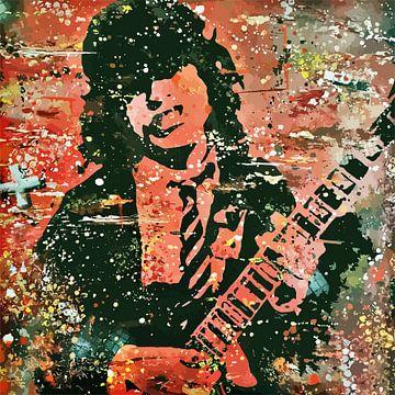 Angus Young AC/DC von TRICHOPOULOS