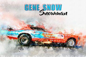 Gene Sneeuw, Sneeuwman met titel van Theodor Decker