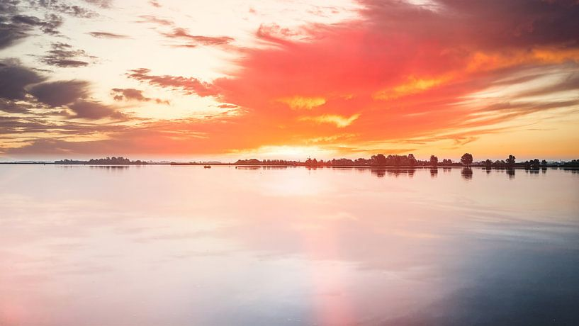 Uitgeestermeer Sonnenuntergang von Digital Art Nederland