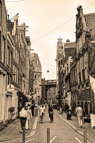Zuiderkerk Binnenstad van Amsterdam Nederland Sepia