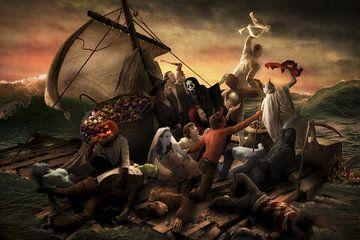 Le radeau d'Halloween, Christophe Kiciak sur 1x