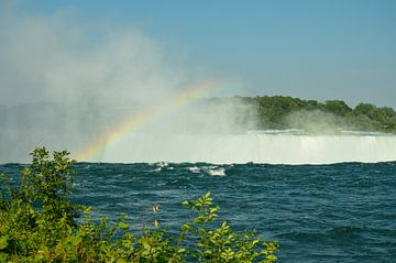 Bord des chutes du Niagara canadien avec arc-en-ciel sur LuCreator