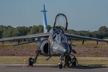 Alpha Jet wordt gereed gemaakt voor take-off. Deze kist is de Solo Display Alpha Jet van de Franse L van Jaap van den Berg