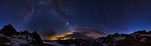 Alpen nacht panorama van