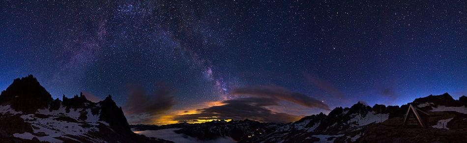 Alpen nacht panorama