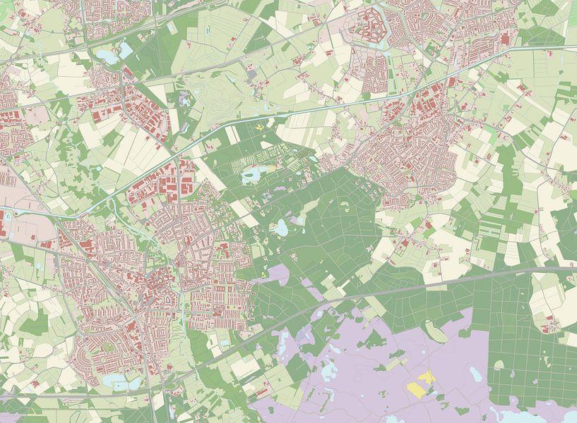 Kaart vanGeldrop-Mierlo van Rebel Ontwerp