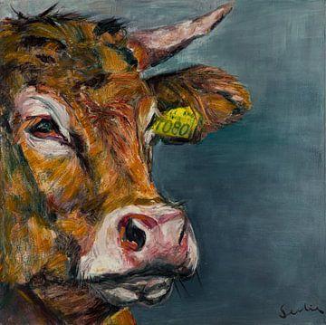 Kuh-Portrait V von Liesbeth Serlie