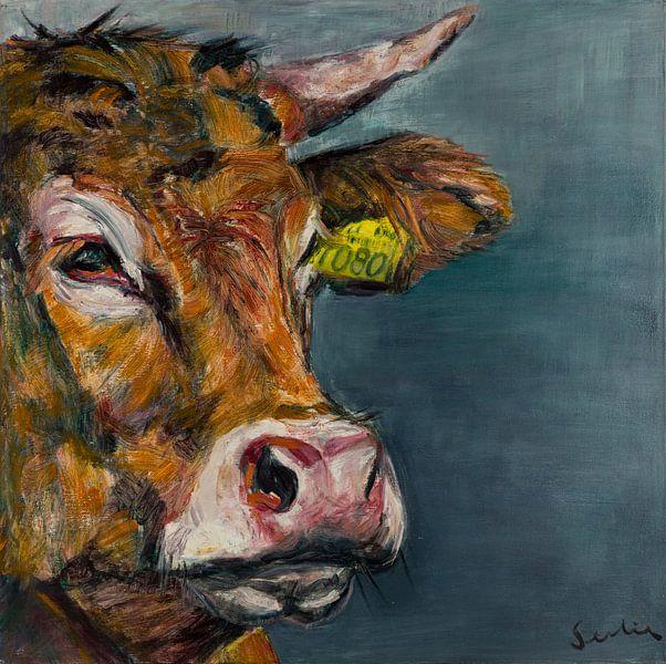 portrait de vache V sur Liesbeth Serlie