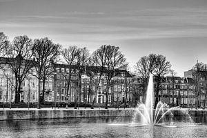 De fontein in de hofvijver in Den Haag