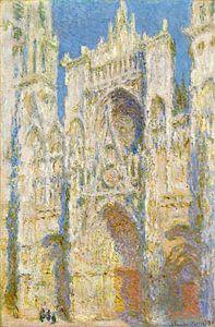 de kathedraal van Rouen, West Façade, Zonlicht, Claude Monet van