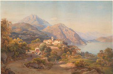 Salomon Corrodi, Hermann David Salomon Corrodi - Ein Sommerabend am Lago Maggiore