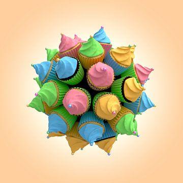 Cupcake Star II van Jörg Hausmann