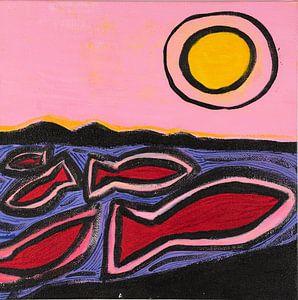 Angeln und die Sonne (2) von