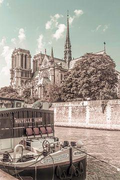 PARIS Kathedrale Notre-Dame | urbaner Vintage-Stil von Melanie Viola