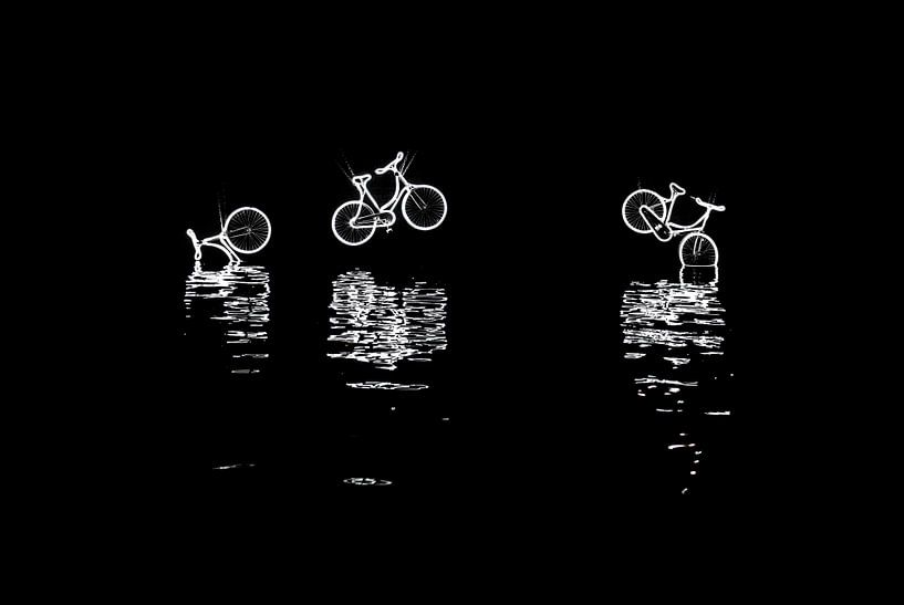 Amsterdam Light Festival 2016 - Canal Bikes van Alex Hiemstra