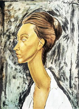 Litho van een vrouw - Amedeo Modigliani van Atelier Liesjes