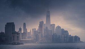 Downtown in de mist