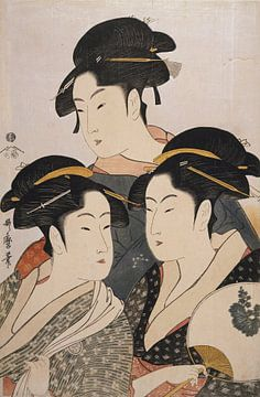 Kitagawa, Utamaro, drei Schönheiten, Kosha, Japaner druck