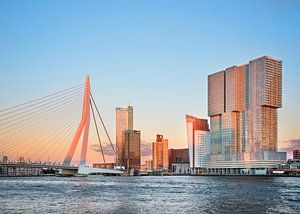 The sunset in Rotterdam van Emma Groenenboom