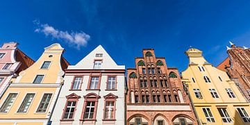 Oude stad van Stralsund van Werner Dieterich