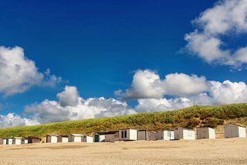 Strandhäuser am Strand von Angela Dölling