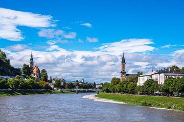 Blick auf die Stadt Salzburg in Österreich von Rico Ködder