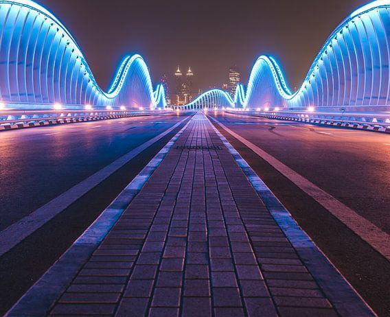 Meydan brug in Dubai