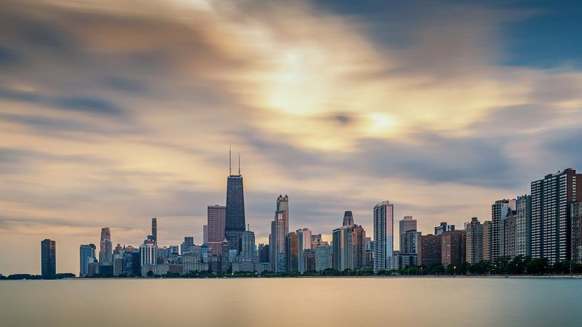 Chicago Skyline van Bart Hendrix