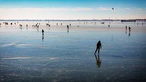 Les patineurs sur la glace de Hoorn