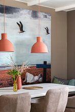Klantfoto: GREY SUMMER BREEZE  (Gezien bij VTwonen, weer verliefd op je huis ) van db Waterman, als print op doek