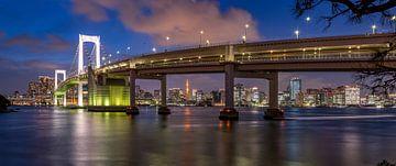 Tokio Rainbow brug over de baai in Tokio van