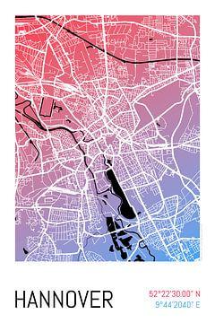 Hannover – City Map Design Stadtplan Karte (Farbverlauf) von ViaMapia