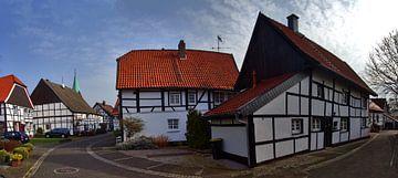Panorama van het dorp van Edgar Schermaul