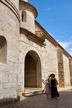Vieille ville de Krk en Croatie par une chaude journée d'été
