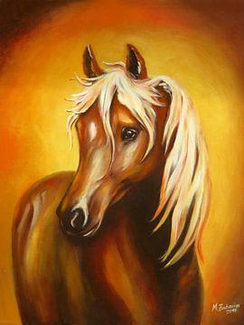 Fantasie Pferdebild handgemalt von Marita Zacharias