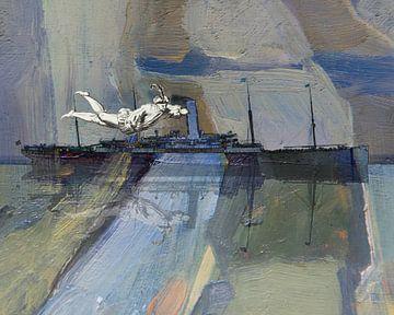 Schiff mit fliegendem Mann von Nop Briex