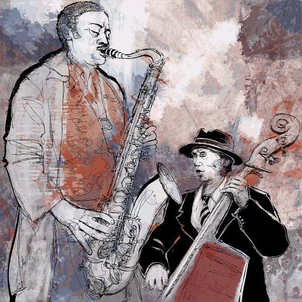Muziek Blues/Jazz van STUDIO68 wanddecoratie