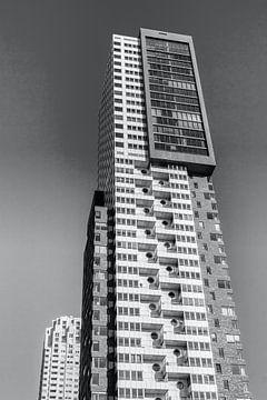 Montevideo ein Hochhaus in Rotterdam in schwarz-weiß von W J Kok