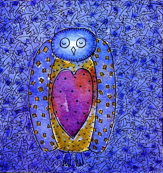 WISE OWL MAN sur Ans de Bie
