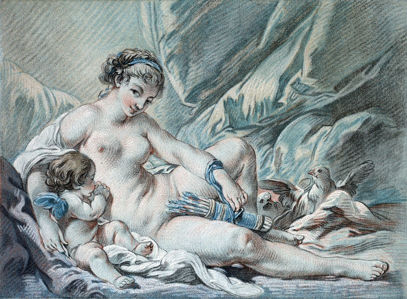 Die Liebe bittet Venus, ihre Arme zurückzugeben, Louis-Marin Bonnet, 1768 von Atelier Liesjes