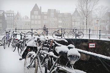 Amsterdam sneeuw van Marianna Pobedimova