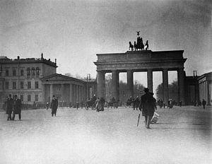 Berlijn, Pariser Platz en Brandenburger Tor, 1900