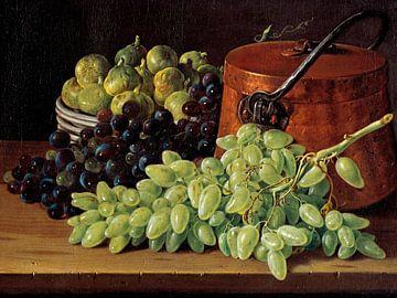 Stilleben mit Trauben, Feigen und einem Kupferkessel, Luis Eugenio Meléndez
