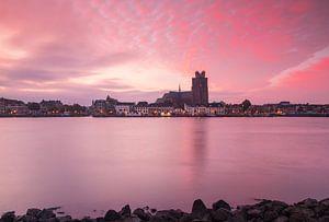 Dordrecht bij zonsopkomst van