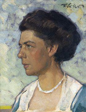 Porträt einer Frau, Olga Erler, FRITZ ERLER, um 1905-1907