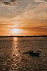 Sonnenuntergang in Faro, Portugal von Manon Visser