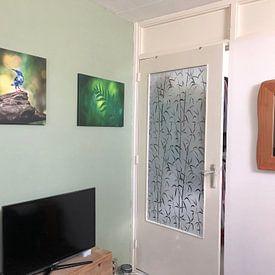 Klantfoto: Jungle (groene varen, close-up) van Cocky Anderson, op canvas